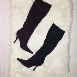 BCBGirls tall suede boots with heel